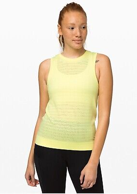 Lululemon Size 12 (Aust 16) Breeze By Muscle Tank *Squad NWTs  Florid Flash