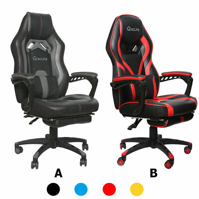 Ergonomic Chair Office Gaming Computer Racing Seat Footrest Recliner Swivel