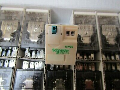 10 x Schneider 4PDT RXM 14 pin Non Latching Relay 12Vdc Coil 6A S3 8497853