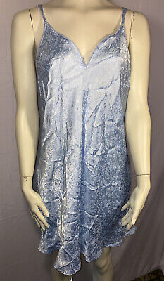 New Morgan Taylor Intimates Nightie Gown Springtime Light Blue Large Polyester
