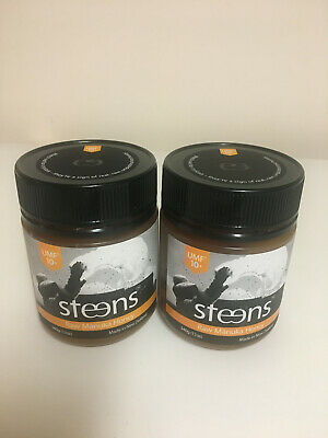 2 x JARS of MANUKA HONEY STEENS 10+ UMF Raw Manuka Honey 340g  NEW free post
