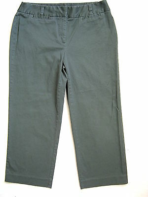 """CHARTER CLUB Womens Olive Green Capri Cropped Pants 6 SMALL S Stretch inseam 23"""""""