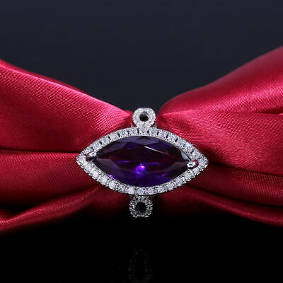 Elegant Marquise Cut Amethyst Rings 925 Silver Engagement Ring For Women Size 7
