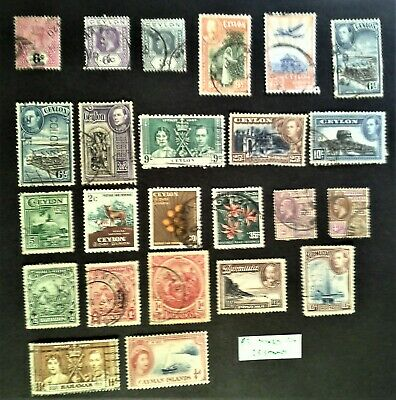 Commonwealth Mixture 24 stamps, Ceylon, B Guiana, Barbados, Cayman, ref P3