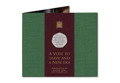 2020 Royal Mint Uk Leaves Eu Brexit 50P Fifty Pence Coin Presentation Pack Bunc
