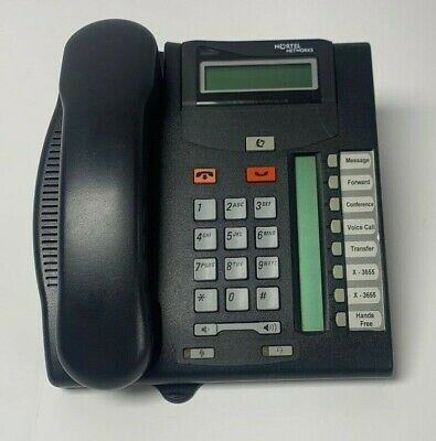 Norstar Nortel T7208 Pbx Charcoal Business Phone Nt8B26 Used