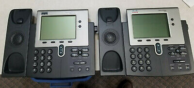 Lot 2 Cisco IP Phone 7940 Series CP-7940G w/ Stand VoIP Office Phone