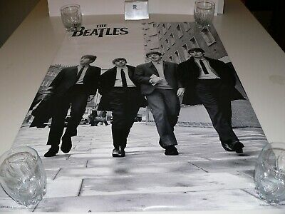 size 24x36 THE BEATLES WALKING IN LONDON  POSTER