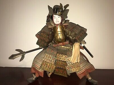 Culturally Important & Authentic Japanese Samurai Doll - Meiji - Edo - Survivor!