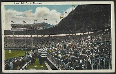 """Chicago Il """"Cubs Ball Park"""" Early Postcard"""