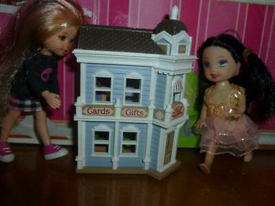 Barbie Kelly Doll Size Toy Diorama - Miniature Dollhouse  W/ Furniture # 5