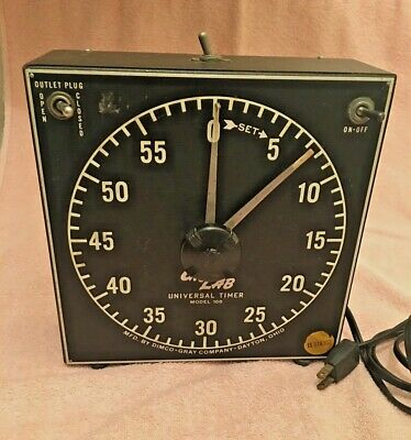 VINTAGE GraLab Model 168 60 Minute Photography, Darkroom & Process Timer - Works