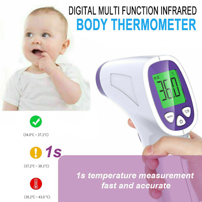 Non Contact Digital IR Infrared Forehead Thermometer Gun Adult Temperature FDA
