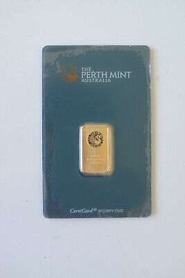 5.0 g gold bar…perth mint certicard…great investment…