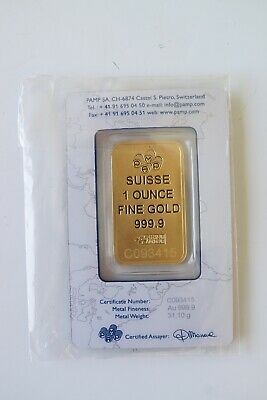 1 oz gold bar…pamp. certicard…great investment…
