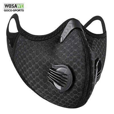 Reusable Activated Carbon Cycling Half Face Shield with Filter Dustproof Scarf