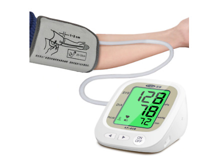 Automatic Blood Pressure Monitor Upper Arm Pulse Gauge Meter BP Heart Beat Rate