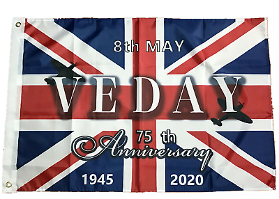2020 VE Day 75th Anniversary Celebration Decrations Union Jack flag WW2 Victory