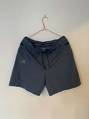 Salomon Grey Blue Men's Trail Running Shorts Size L