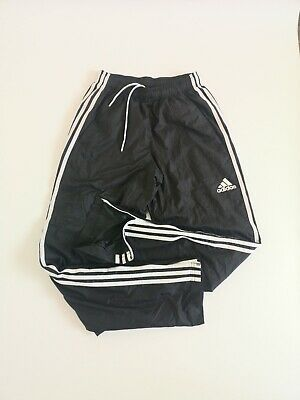 Adidas Mens Joggers Shell Suit Bottoms Black Small Vintage Retro