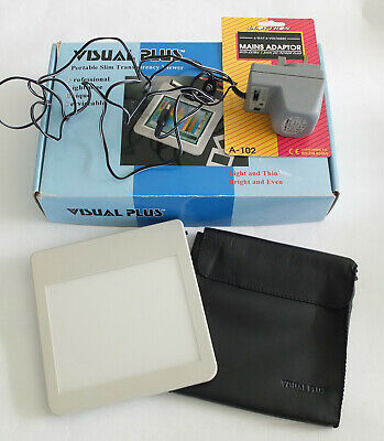 Visual Plus Portable Transparency Viewer  Mains/Battery Operated VP-6050V