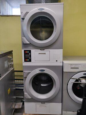 DAWS2EDC Commercial Laundromat Wascomat Crossover Stack Electric Dryer, Used