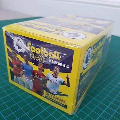 Panini FOOTBALL 2020 Premier League Stickers - Full Box - 100 Packets - SEALED