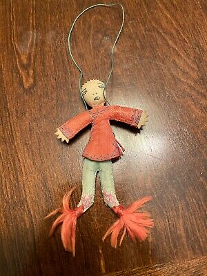 Vintage Handmade Chinese Doll Ornament Present ??? Small