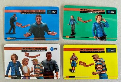 Duracell Putterman (Zac, Flo, Herb ) Set of 4 Phone Cards
