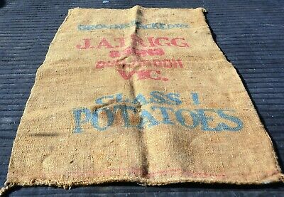 Old Hessian Potato Bag