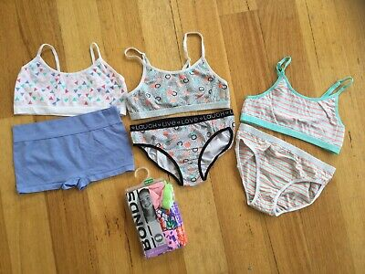 girls underwear And Crop Tops Size 10-12