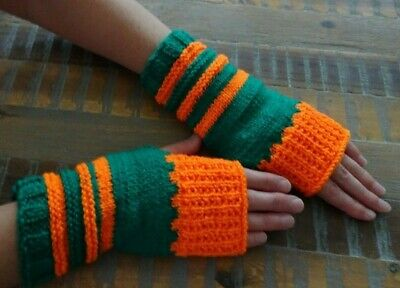Hand Knitted Gloves Hand Warmers Fingerless Mittens Australia Made