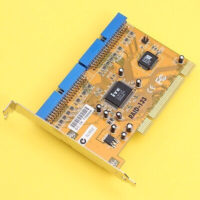 IDE Ultra ATA-133 PCI RAID Card Bootable Supports RAID 0, 1, 0+1, JBOD