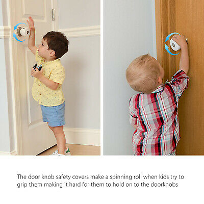 3x Safety Child Proof Safe Kids Lock Door Knob Cover Children Baby Toddler Guard