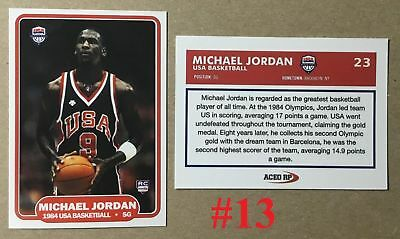 Michael Jordan 1984 Usa Olympics Rookie Rare Promo Basketball Card Last Dance$$$