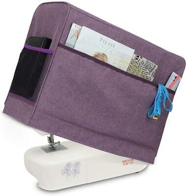 Sewing Machine Dust Cover Pocket  for Most Standard Singer Brother Sewing Purple