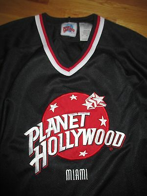 PLANET HOLLYWOOD - Miami Embroidered (LARGE) Hockey Jersey