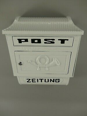 Briefkasten Wandbriefkasten Standbriefkasten Alu rustical weiss 265.117W