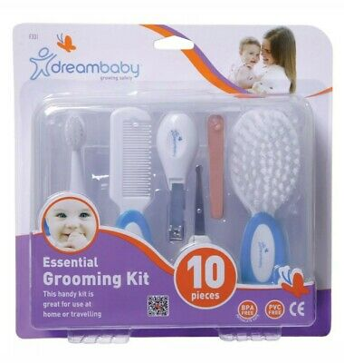 Dreambaby Essential Grooming Kit Baby Nail Clippers Hairbrush Toothbrush Comb