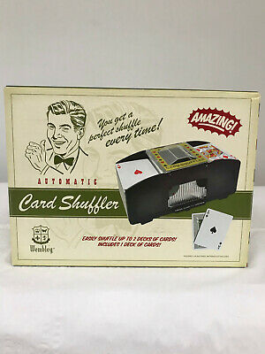 Brand New Wembley Casino & Lounge Automatic Up To Two Deck Card Shuffler