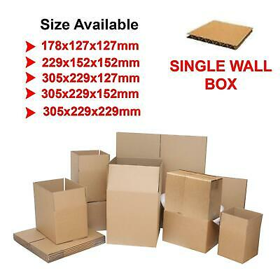 Postage Shipping Cardboard Boxes Packaging Small Postal Single Wall Cartons UK