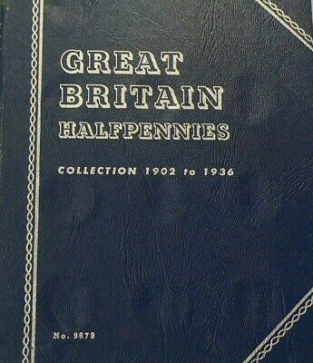 Whitman Great Britain Halfpennies Collection 1902 to 1936 #7613