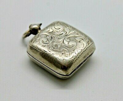Sterling Silver Sovereign Coin Holder Case Fob Purse 1907 Gilbert Chatelaine