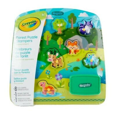 NEW Crayola Forest Animals Puzzle Stampers from Mr Toys