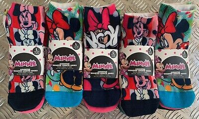 Disney Minnie Mouse Socks X9 Pack Assorted Quarter Length Socks 9 Pairs Youth L