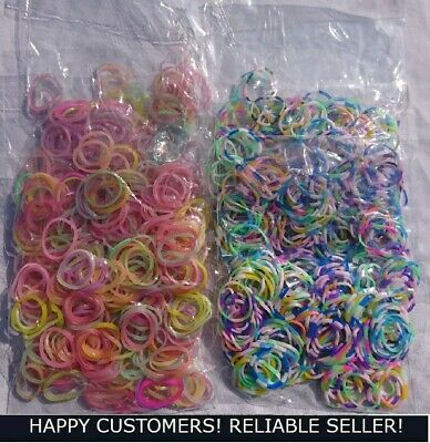 Loom Bands 1200pcs Stripes & Neons or Mix
