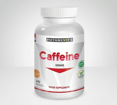 Caffeine Tablets 240 Pills Pre Workout Energy 200mg Increase Energy Stamina UK