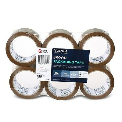 YUPAK™ 48MM x 66M Sticky Brown Packaging Tape for Boxes 6 12 24 36 72