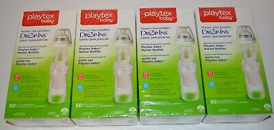 200 PLAYTEX Baby Drop-Ins Bottle Liners, 4 x 50 Count (8-10 oz) Liners- SEALED!