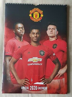 NEW Official Manchester United 2020 12 Month A3 Calender